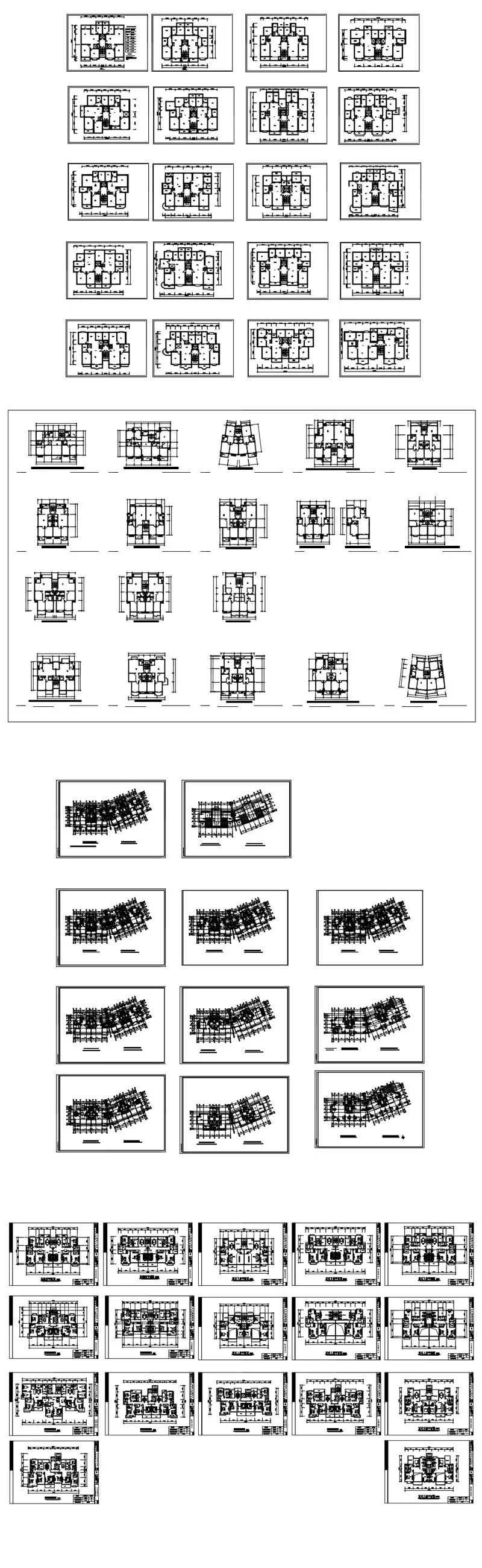 1000 Modern House Autocad Plan Collection