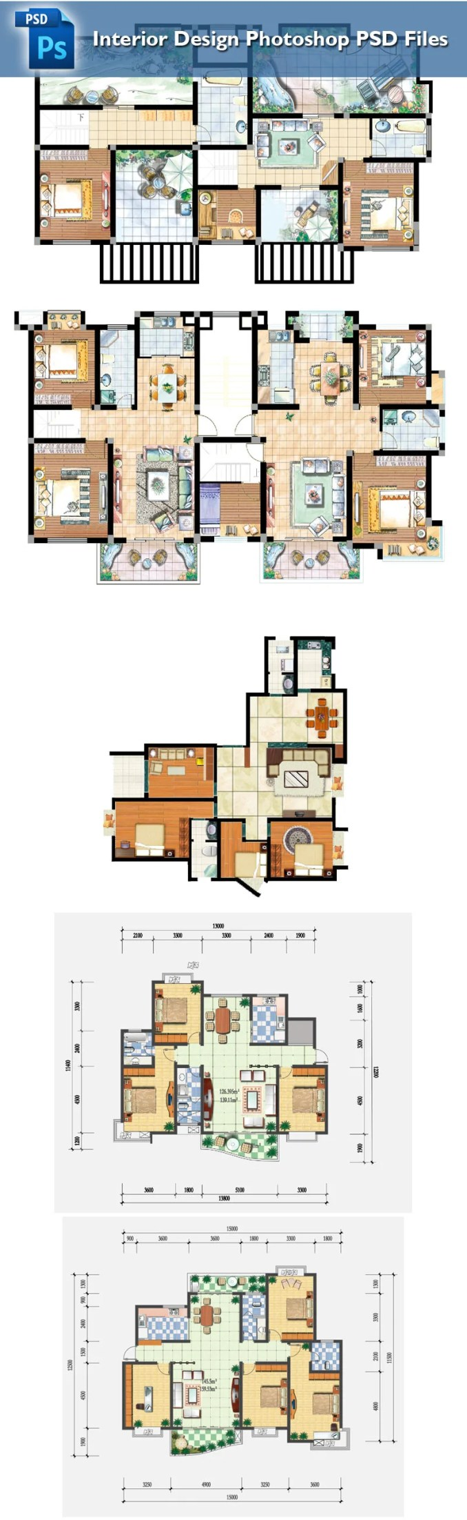 15 Types Of Interior Design Layouts Photoshop Psd Template V 2