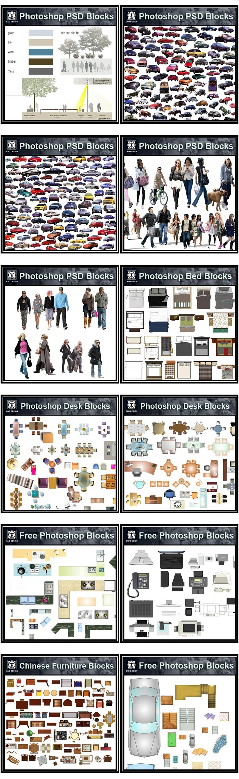 Over 1000 Photoshop PSD Blocks Bundle