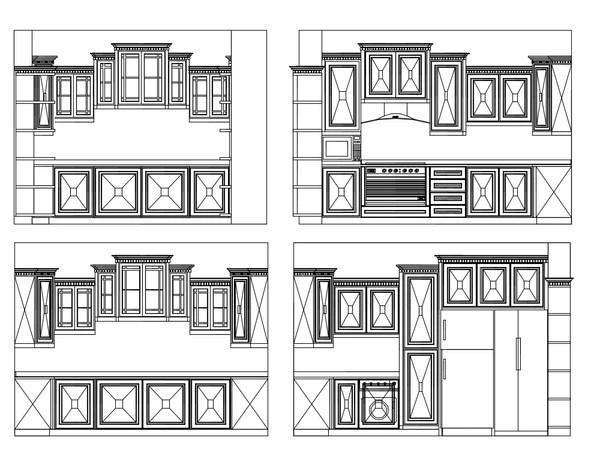 Kitchen Cad Blocks Elevations