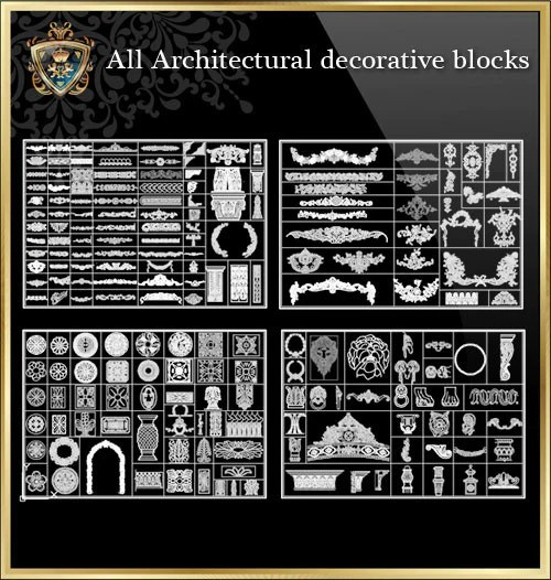 All Architectural Decorative Blocks V1 CAD Design