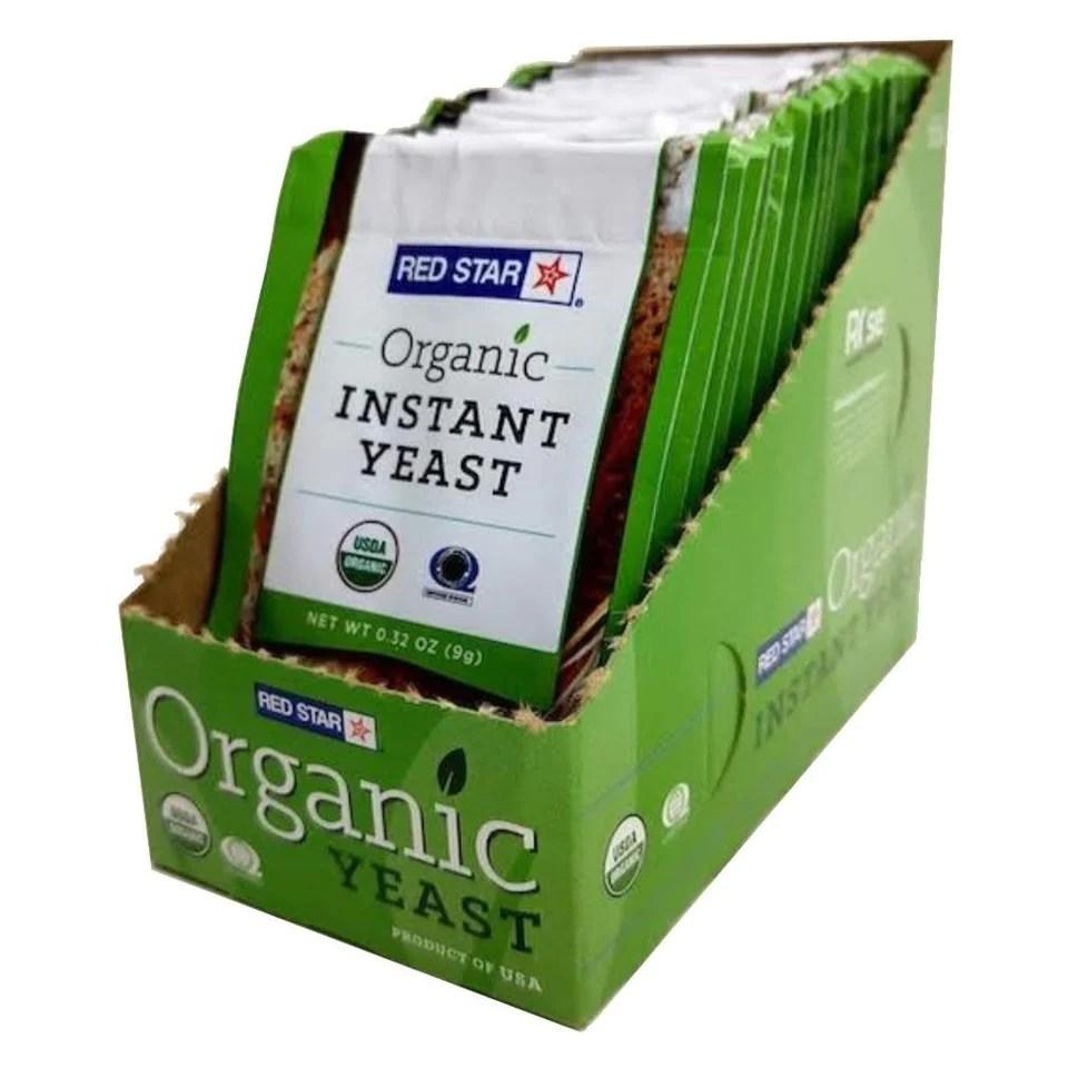 Bioreal Organic Yeast – Box of 40 for Homebaking Artisan ...