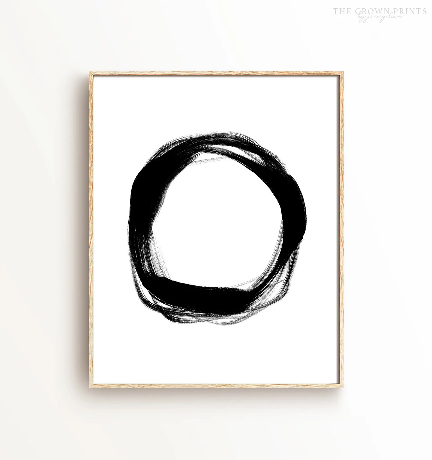 Abstract Black White Ring Printable Art The Crown Prints