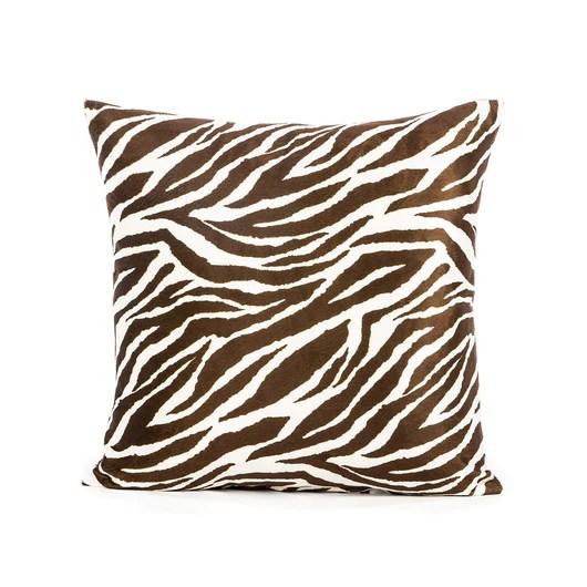 dark brown cream microfiber zebra pattern throw pillow cover 20