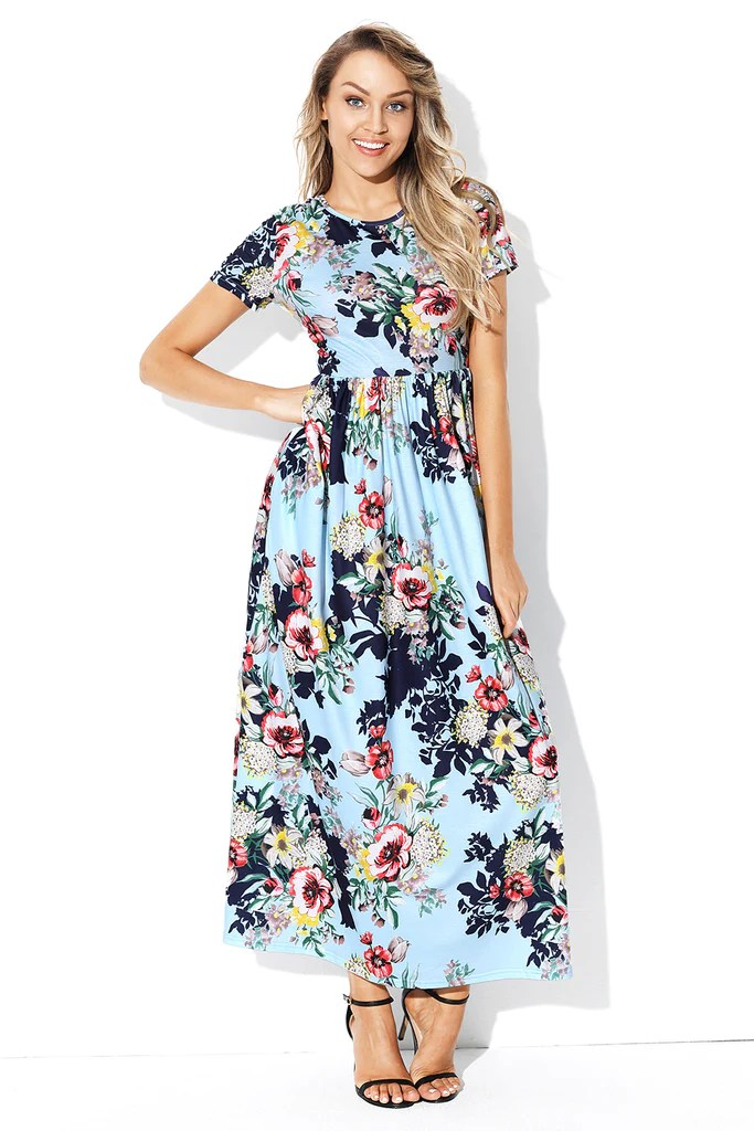 44abdc162 Design With Flowers Dress Blue Shoes | Gardening: Flower and Vegetables