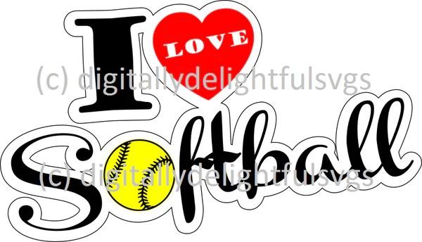 Download Softball life ball shape svg - Digitallydelightfulsvgs