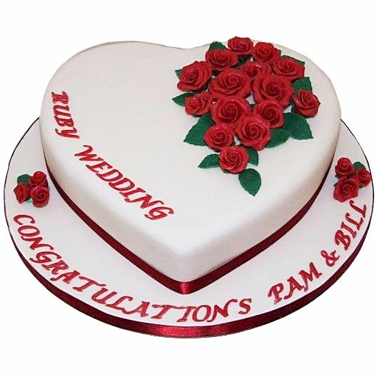 Ruby Wedding Anniversary Cake 163 84 95 Buy Online Free