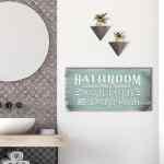 Bathroom Wall Art Bathroom Rules Wood Frame Ready To Hang Sense Of Art