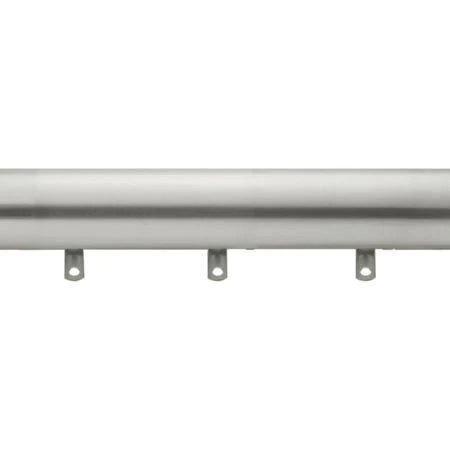 kirsch designer metals 1 3 8 inch diameter smooth traverse curtain rod set with plain slides 180 270 inches