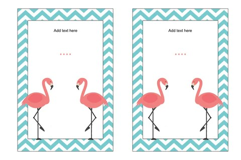 free flamingo party invitations