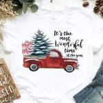 Vintage Red Truck Christmas Shirt Most Wonderful Time Of The Year Aurlex Tees