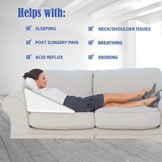 magasin multipurpose memory foam wedge pillow for sleeping leg elevation back neck pain relief