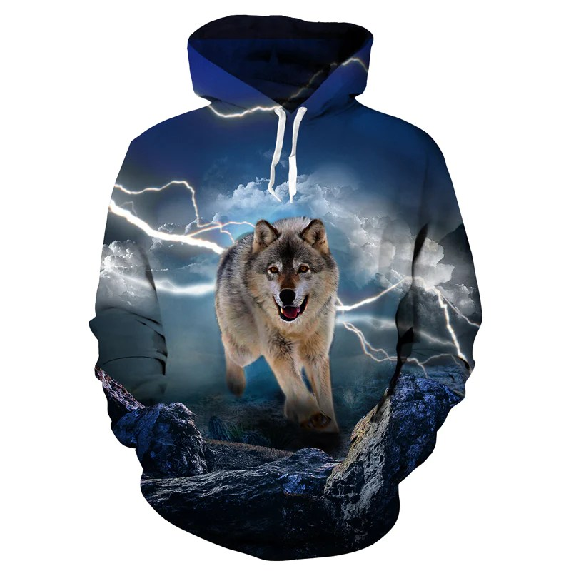 Lightning Wolf Hoodie Titleseventy