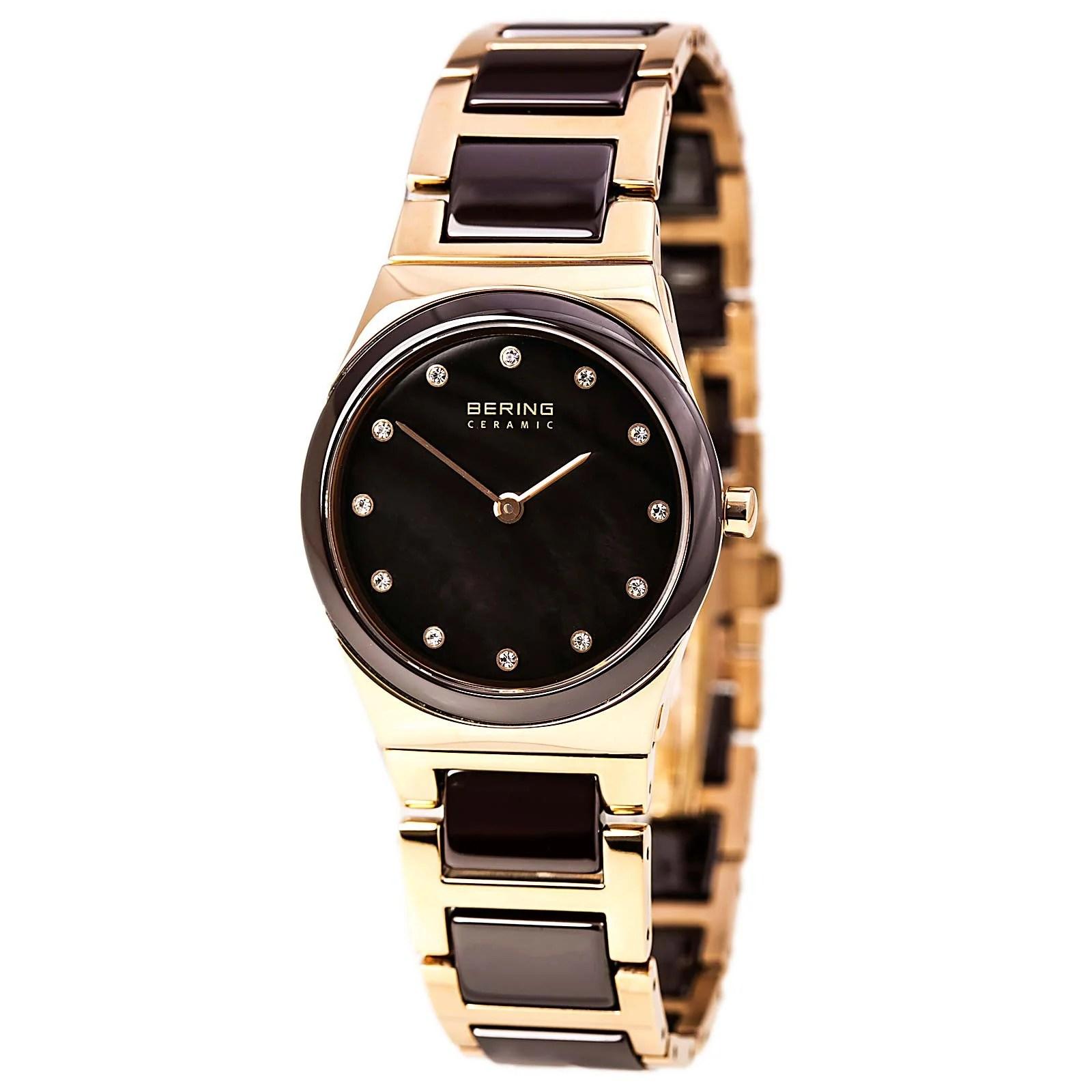 Bering 32230-765 Lady's MOP Dial Steel & Ceramic Bracelet Watch