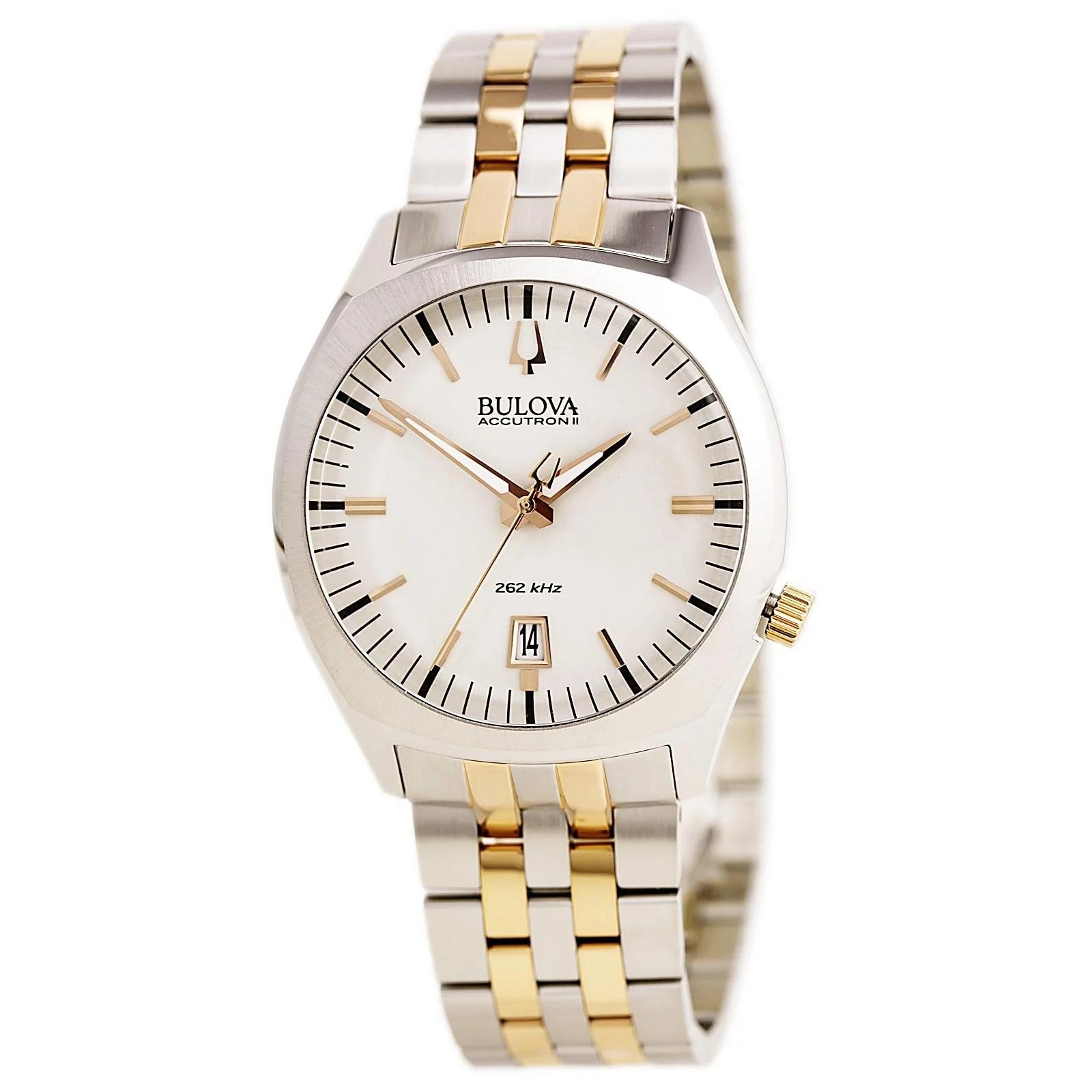 Bulova 98B220 Mens Accutron II Silver Dial Two Tone Bracelet Watch