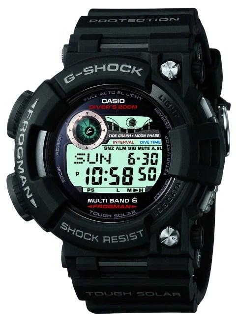Casio GWF1000-1 Men's G-Shock Frogman Atomic Solar Digital World Time Dive Watch