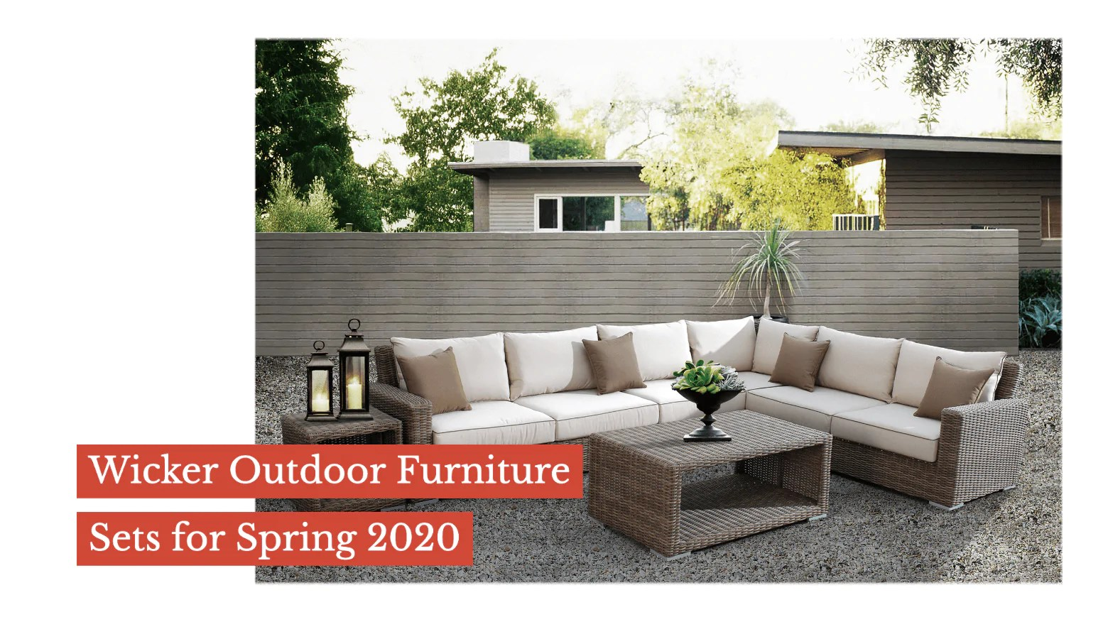 wicker outdoor furniture sets for