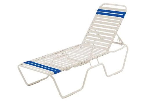 19 seat height stacking strap armless chaise lounge