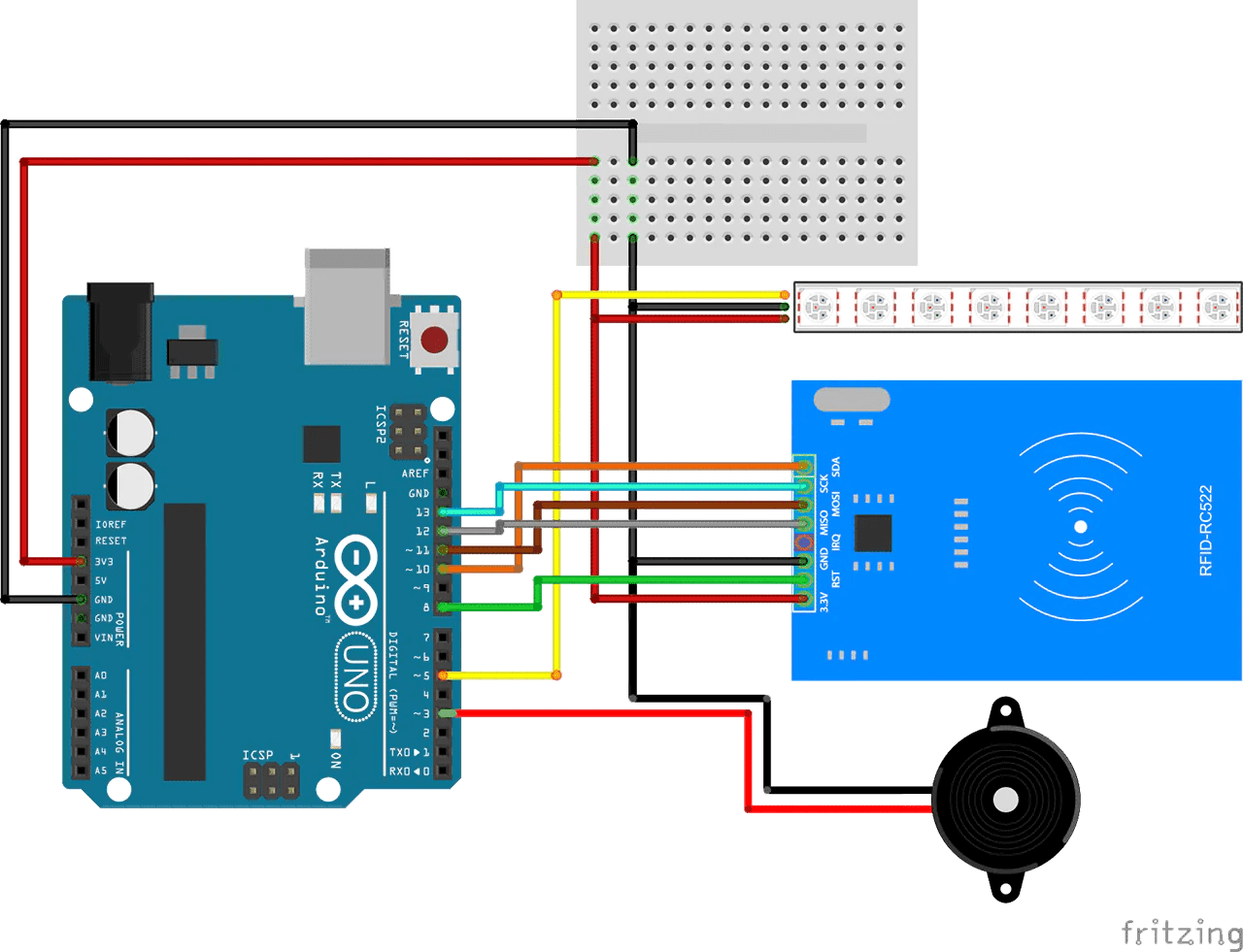 Let's make a simple Arduino RFID reader using the RC522 Module – BrainyBits
