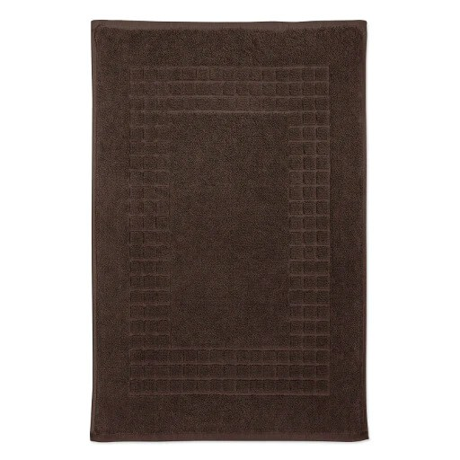 hampton and astley 100 egyptian cotton luxury bath mat chocolate