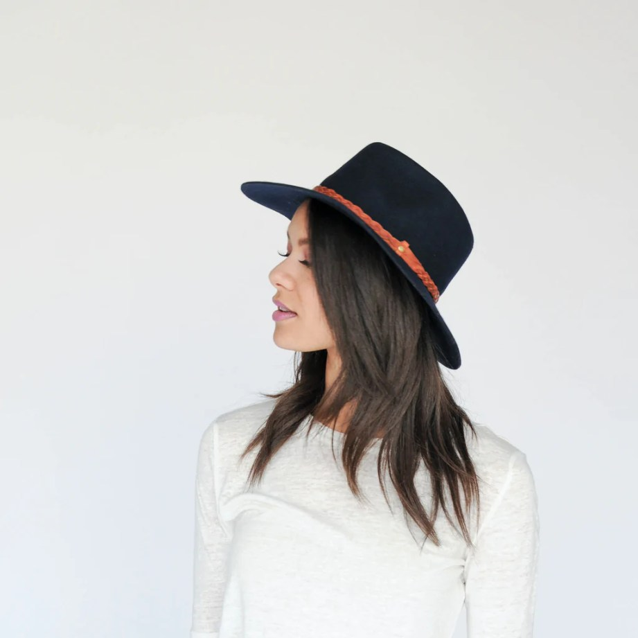 FLOPPY FEDORA - NAVY - EQUAL UPRISE