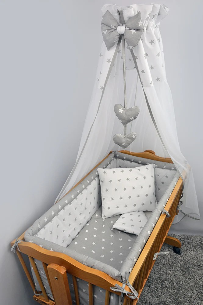 7 pce crib baby bedding set 90 x 40