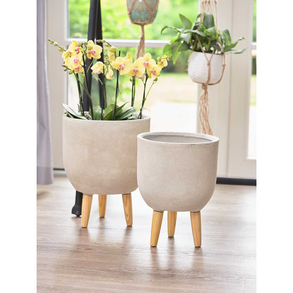 Ruth Plant Pot Stands Set Of Two Sand Hortology