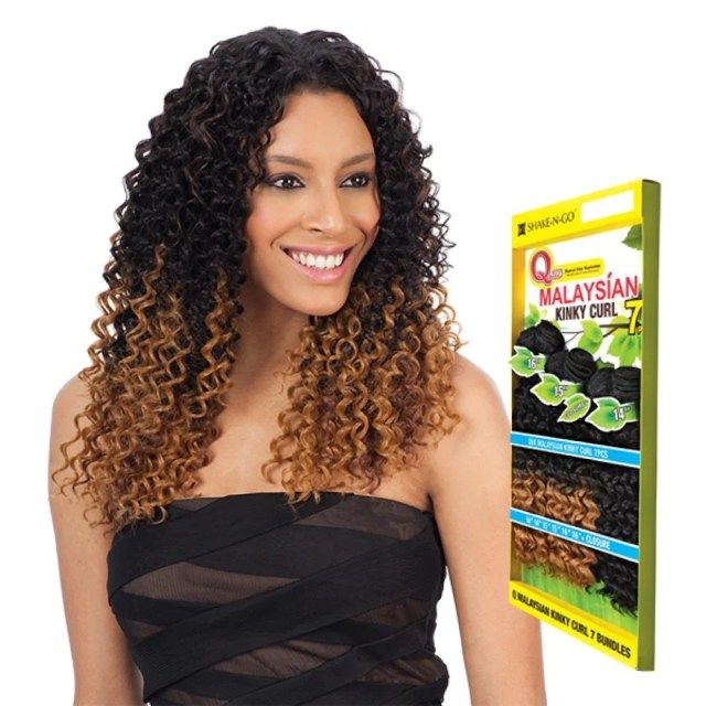 milkyway que malaysian kinky curl 7pcs weave – quality