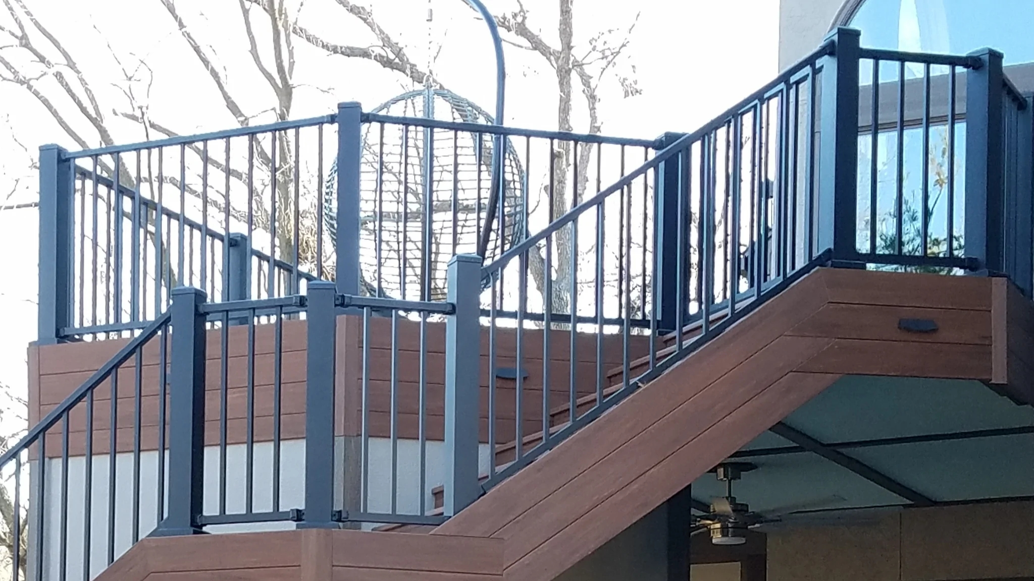 Deck Railing Cost Comparison Railing Product Types Railing   Stair Railing Cost Per Linear Foot   Glass Railing   Baluster   Cable Railing Systems   Stair Case   Wrought Iron Railings