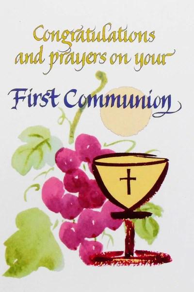 Card First Holy Communion Abbas Catholic Bookstores