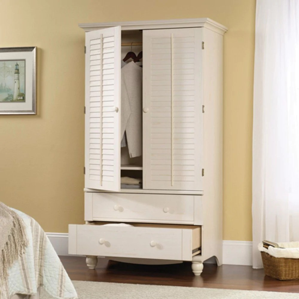Best Kitchen Gallery: Bedroom Wardrobe Cabi Storage Armoire With Louver Doors In White of Bedroom Wardrobe Cabinet on rachelxblog.com