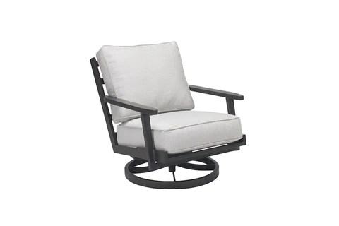 adeline outdoor aluminum swivel chair