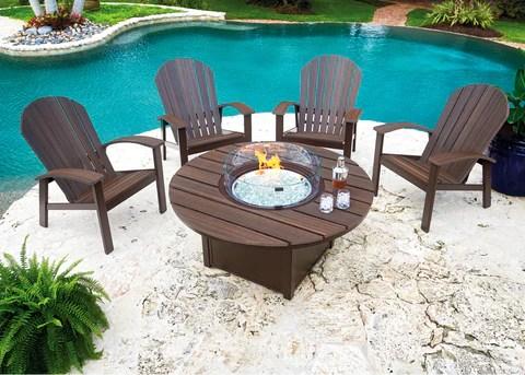 newport 5 pc firepit set firepits outdoor furniture sets clover home leisure