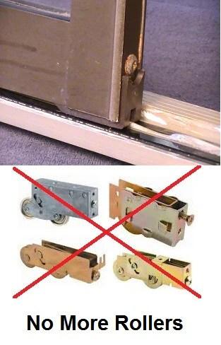 sliding door repair door track