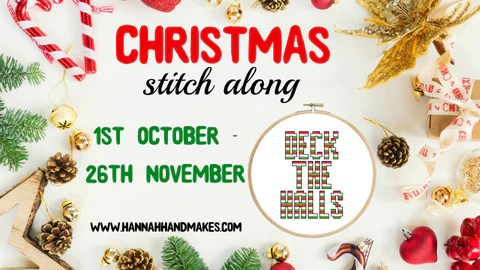 Christmas Stitch Along - Deck The Halls, 1st October - 26th November 2017.