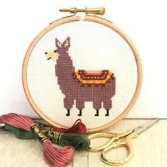 little-llama-cross-stitch-kit