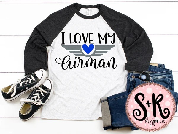 Download I Love My Airman SVG DXF PNG (2019) - Scout and Rose Design Co