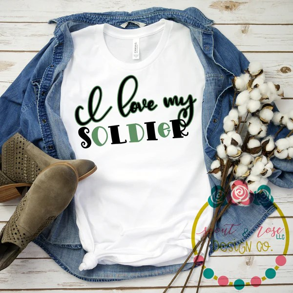 Download Love My Soldier SVG DXF PNG (2019) - Scout and Rose Design Co