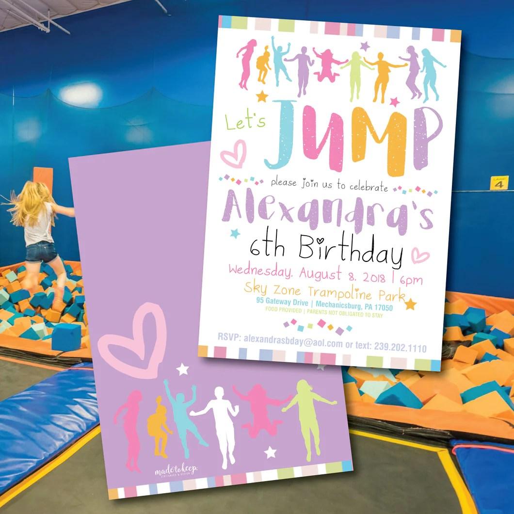 girls bounce house skyzone birthday