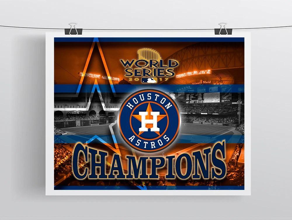 houston astros poster 2017 world series championship poster astros man cave art