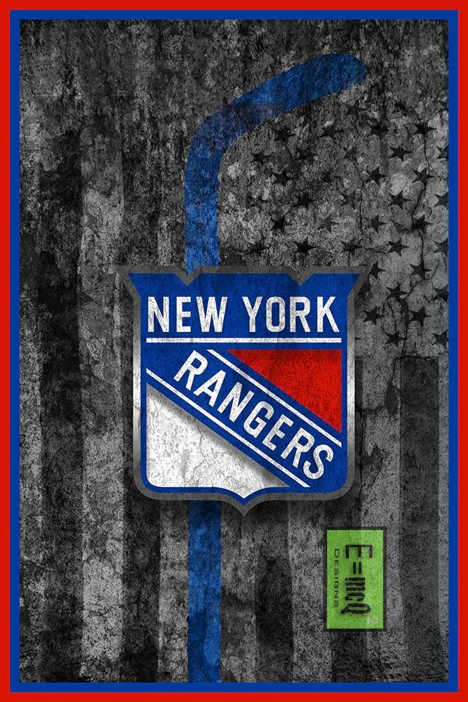 new york rangers hockey flag poster new york rangers flag print ny rangers man cave flag art