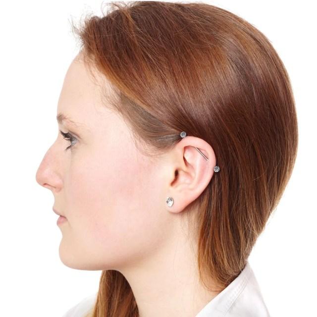 BodyJ4You 6PCS Industrial Barbell Earrings