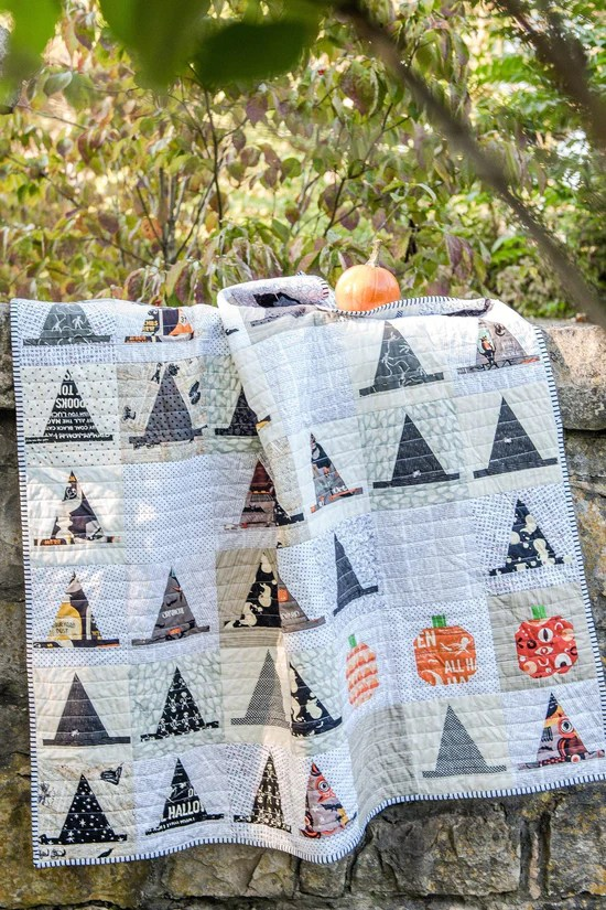 witches hat halloween quilt pattern