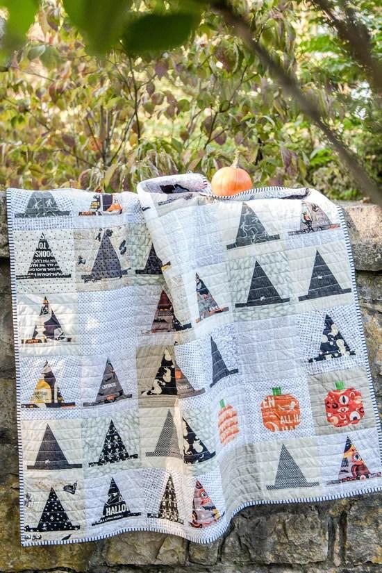 witches hat halloween quilt pattern