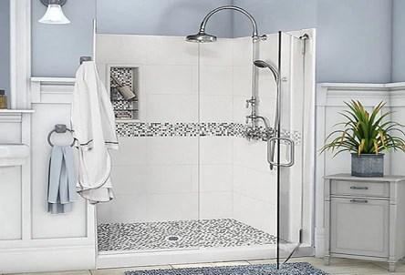 mosaic tile shower kits american bath
