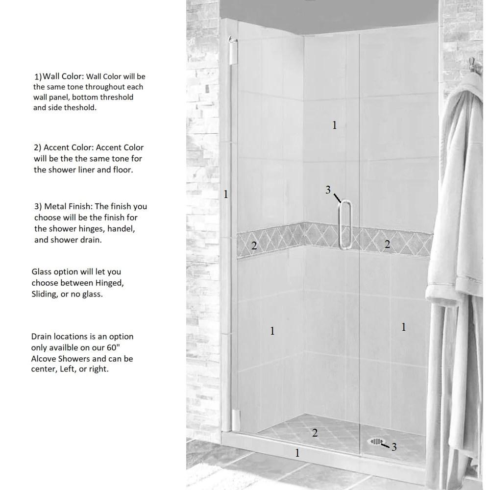 diamond 60 alcove shower kit style color options