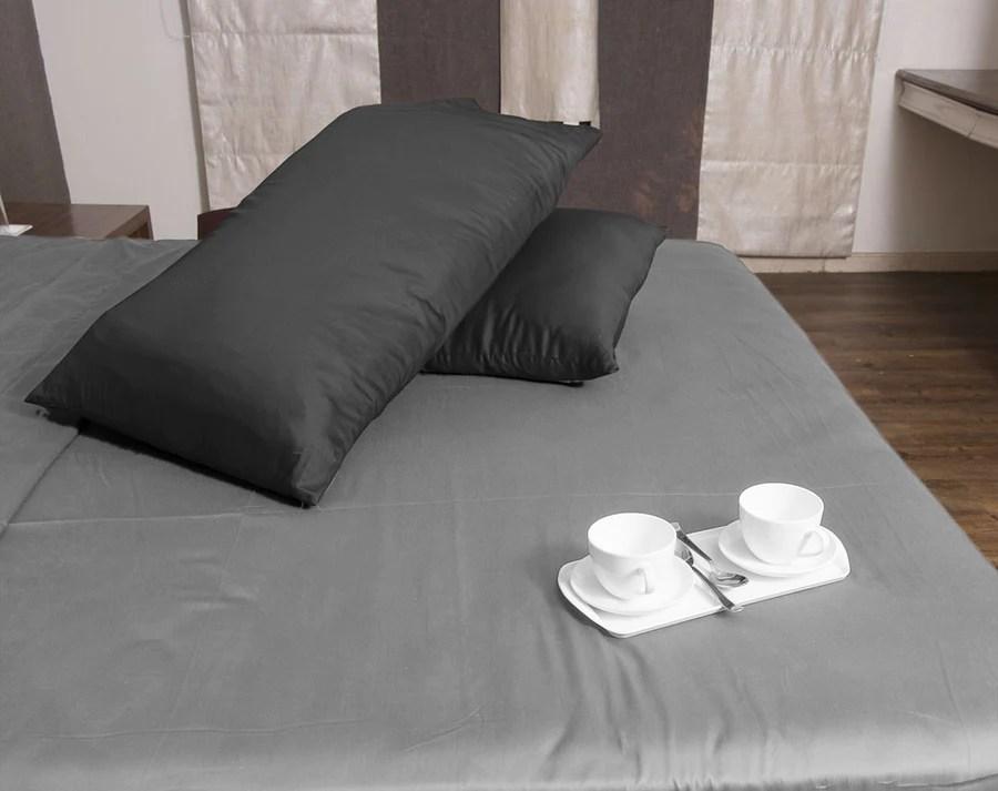 luxury dark grey pillowcase solid pillow cases aanyalinen