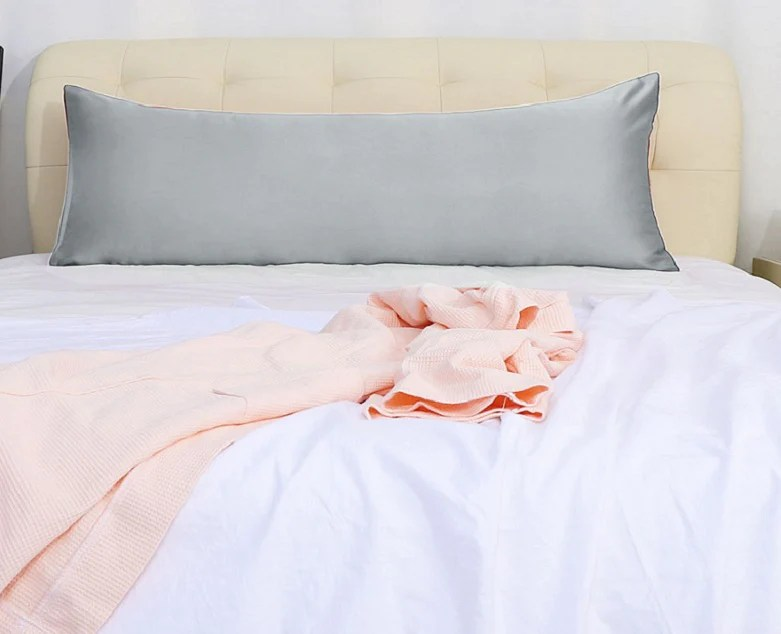https www aanyalinen com products bliss sateen bodypillow cover solid light grey