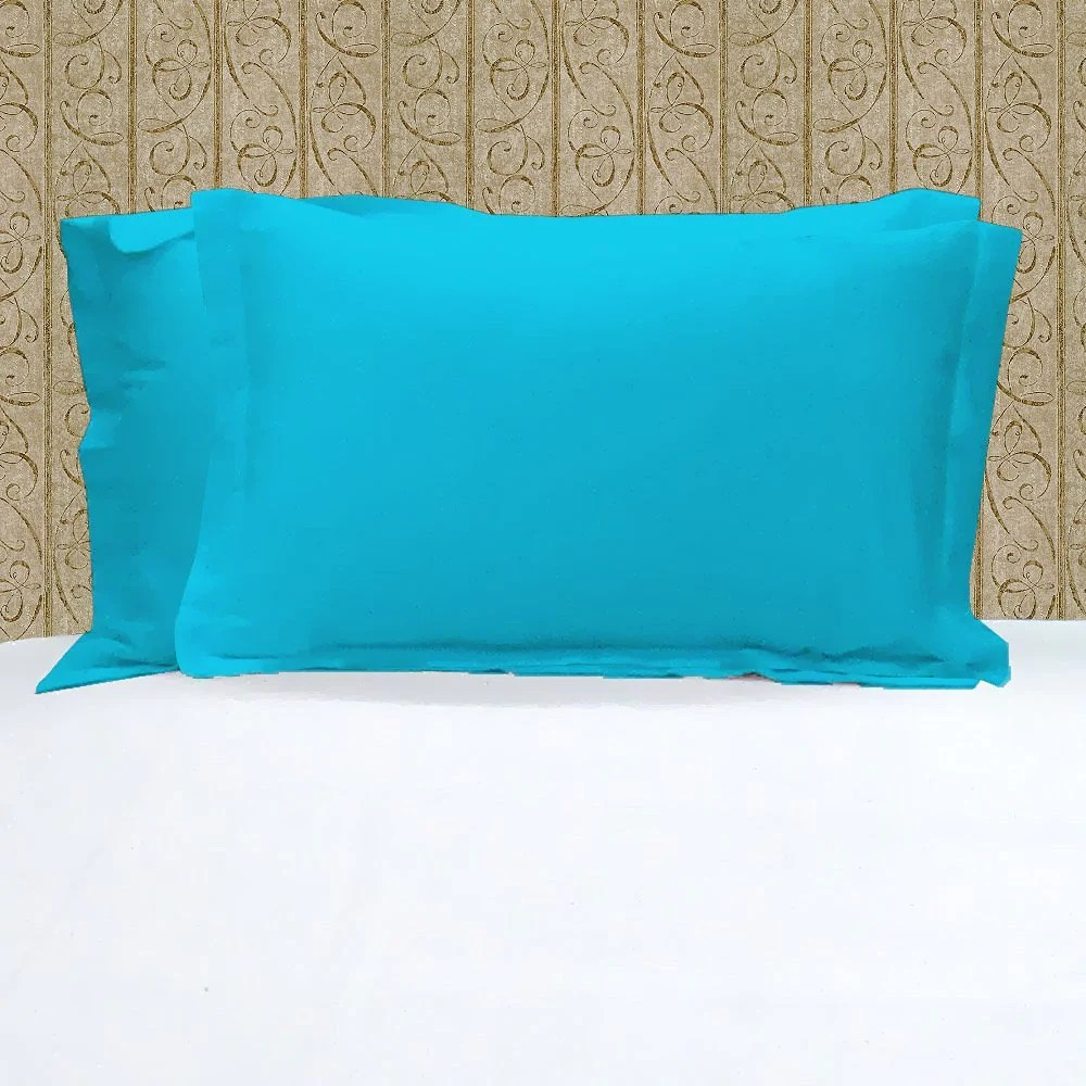 turquoise pillow shams solid comfy sateen