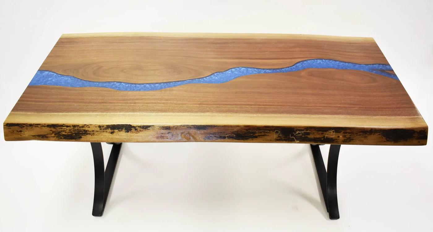 walnut river coffee table